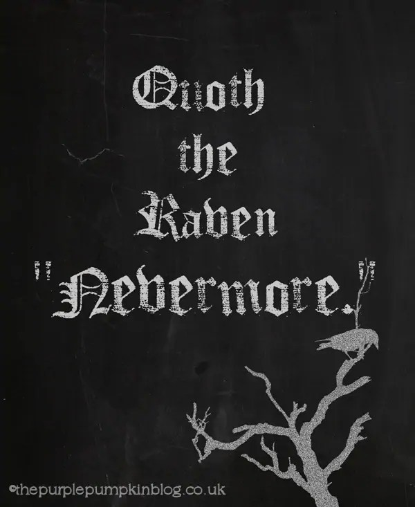 Quoth The Raven Halloween Poster