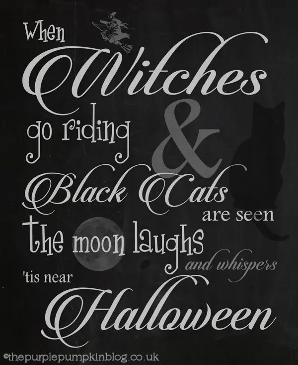 When Witches Go Riding Halloween Poster