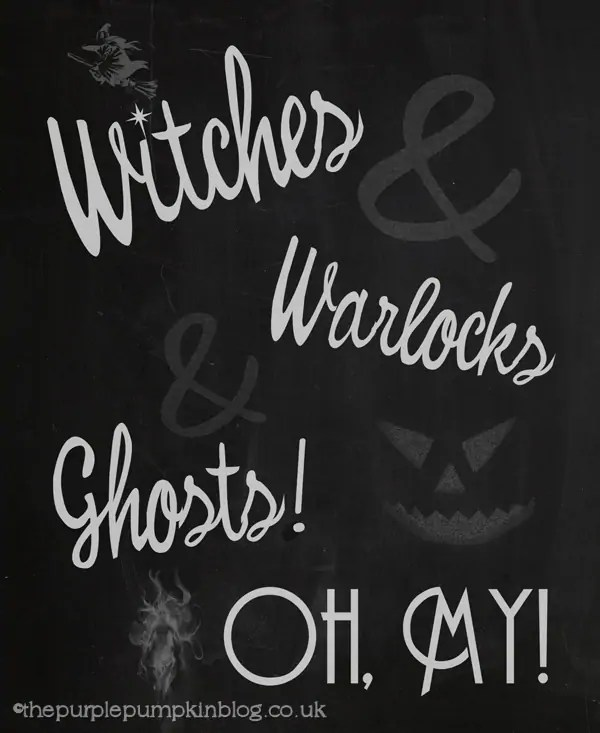 Witches Halloween Poster
