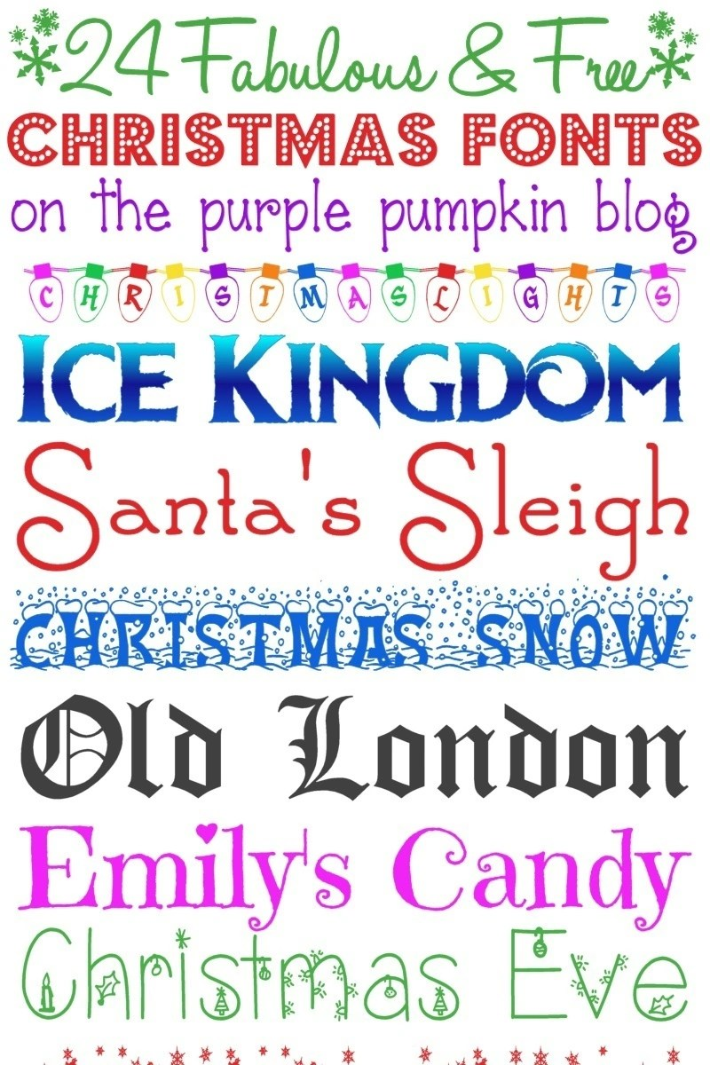 24 fabulous and free christmas fonts - Christmas Fonts Free