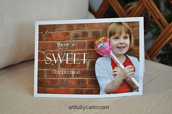 Christmas Lollipop Card