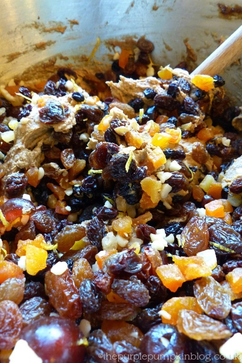 How To Make A Christmas Fruit Cake Stir in Alcohol Soaked Fruit