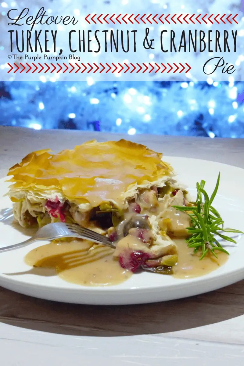 Leftover Turkey Chestnut Cranberry Pie
