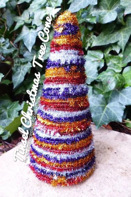 Tinsel Christmas Tree Cone