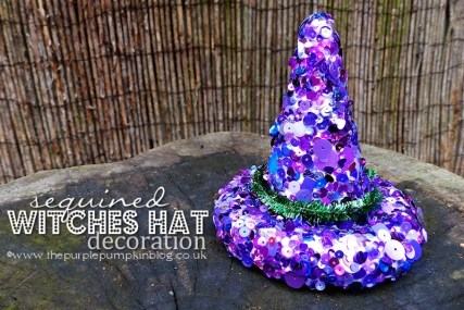 Witches Hat Craft with Sequins
