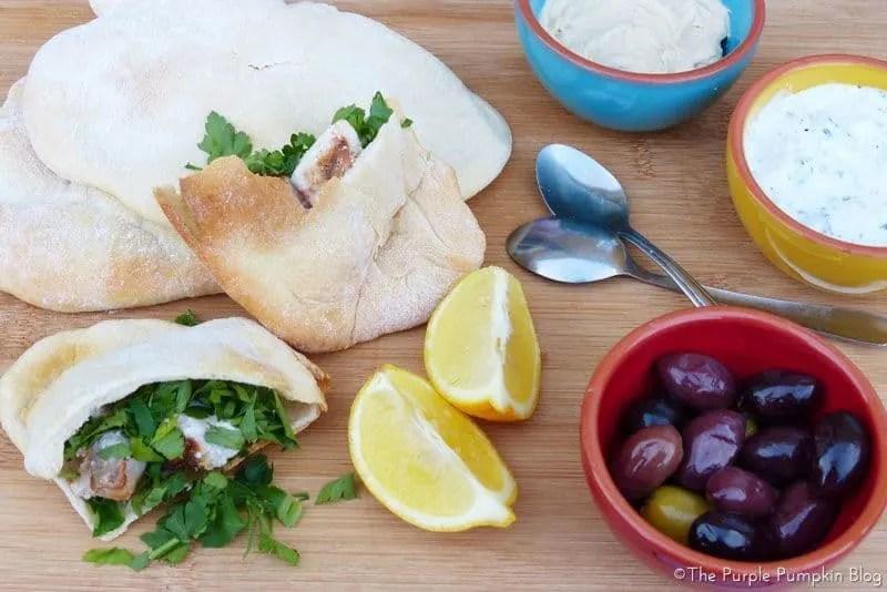 Cypriot Souvlaki, Tzatziki + Pitta Bread