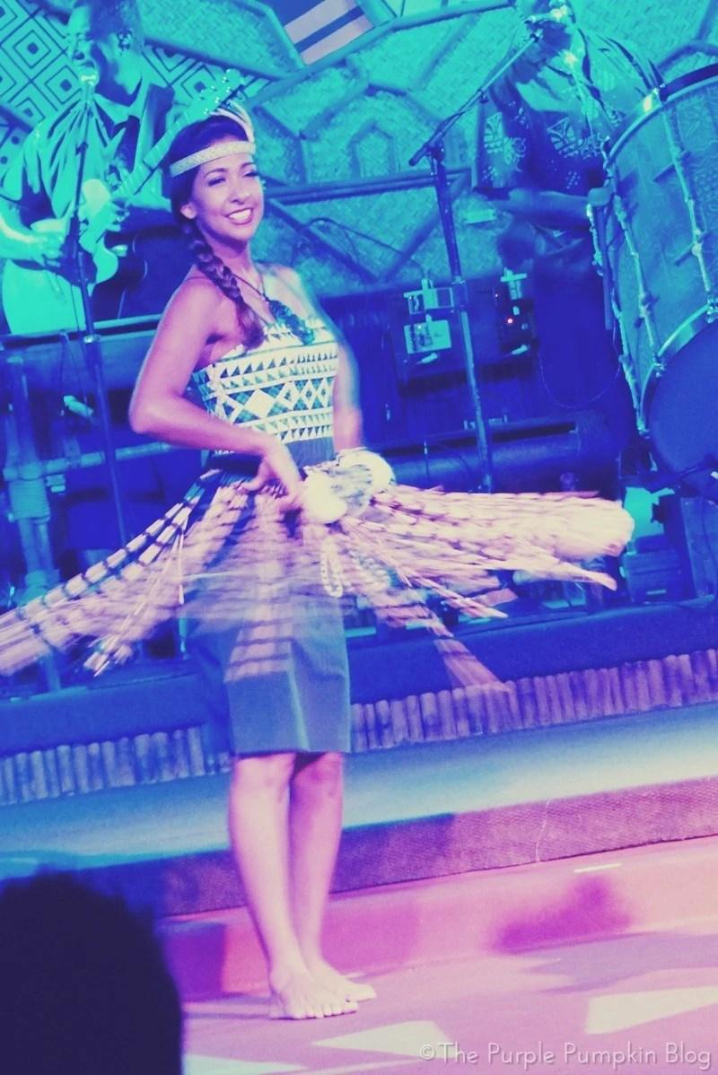 Maori Poi Ball Dance at Spirit of Aloha Dinner Show at Disney Polynesian Resort