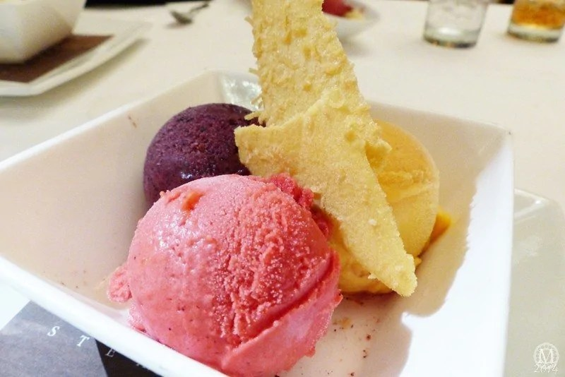 Seasonal Sorbet Trio at Yachtsman Steakhouse