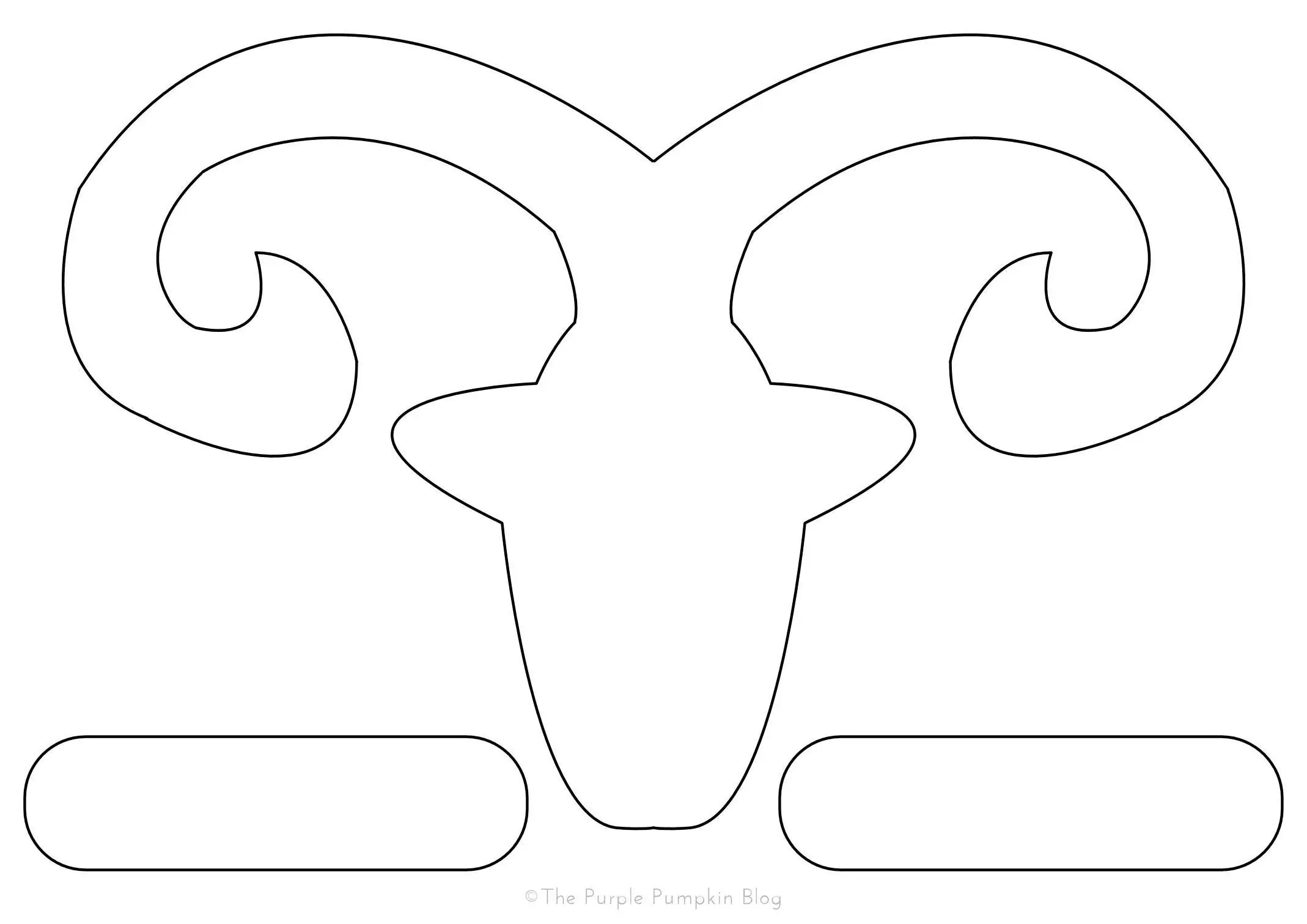 Chinese New Year Goat Sheep Outline Template The Purple