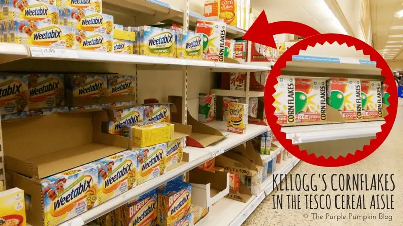 Kellogg's Cornflakes in Tesco Cereal Aisle