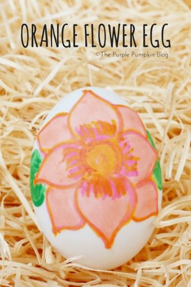 Orange Flower Egg