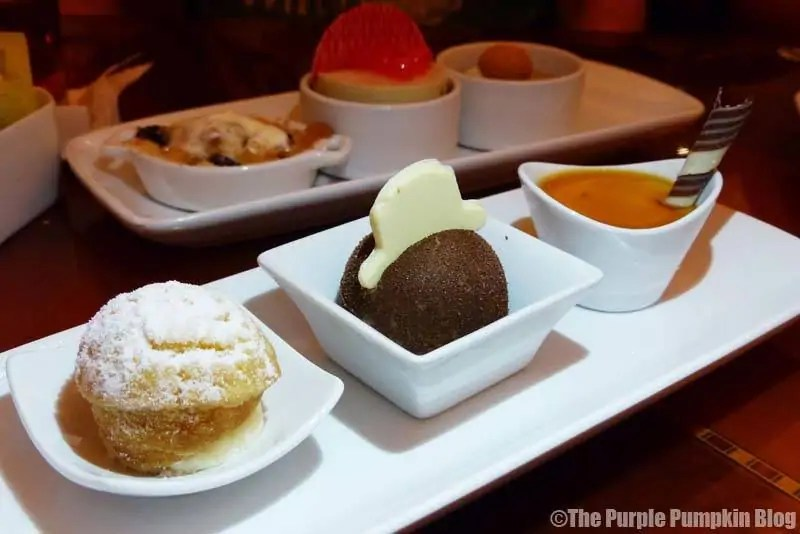Dessert Trio at Hollywood Brown Derby
