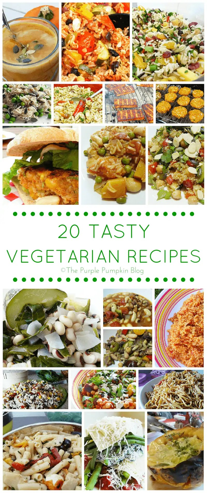 20 Tasty Vegetarian Recipes