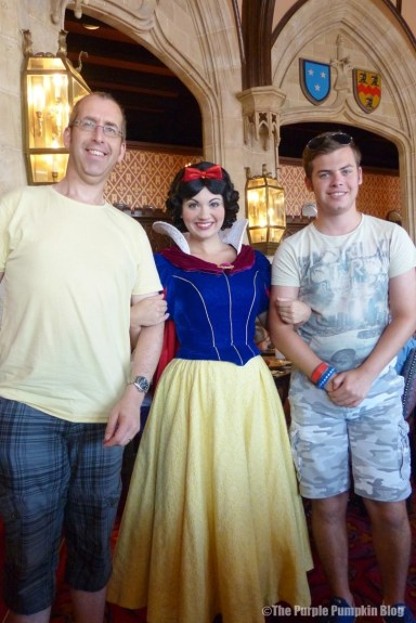 Meeting Snow White at Cinderella's Royal Table