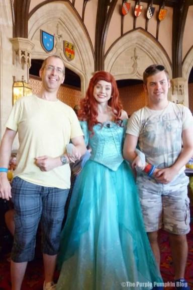 Meeting Ariel at Cinderella's Royal Table