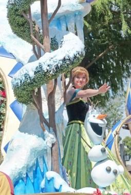 Anna & Elsa - Beauty & The Beast - Festival of Fantasy Parade at Disney's Magic Kingdom