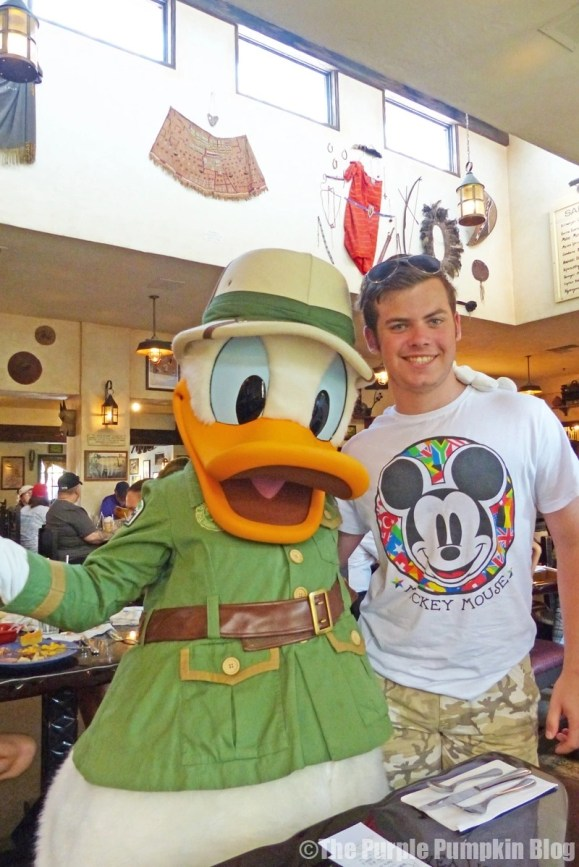 The Boy with Donald Duck at Tusker House