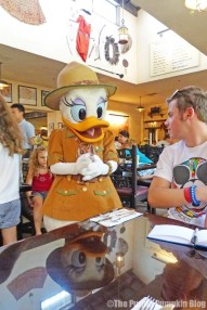 The Boy with Daisy Duck at Tusker House
