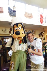 The Boy with Goofy at Tusker House