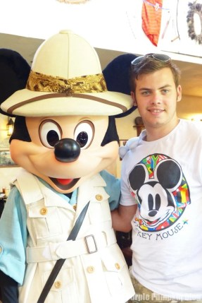 The Boy with Mickey Mouse at Tusker House