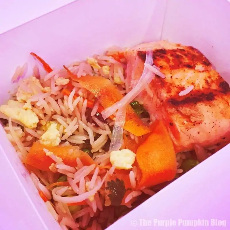 Salmon and Rice Food Box