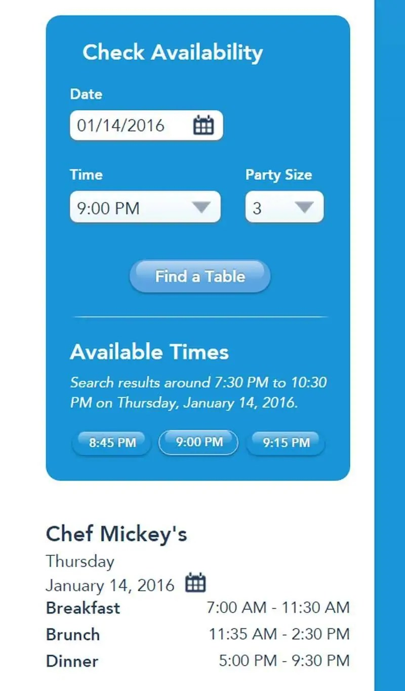 Chef Mickeys - ADR Example