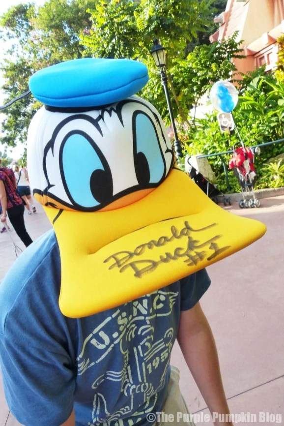 Donald Duck Hat - Signed