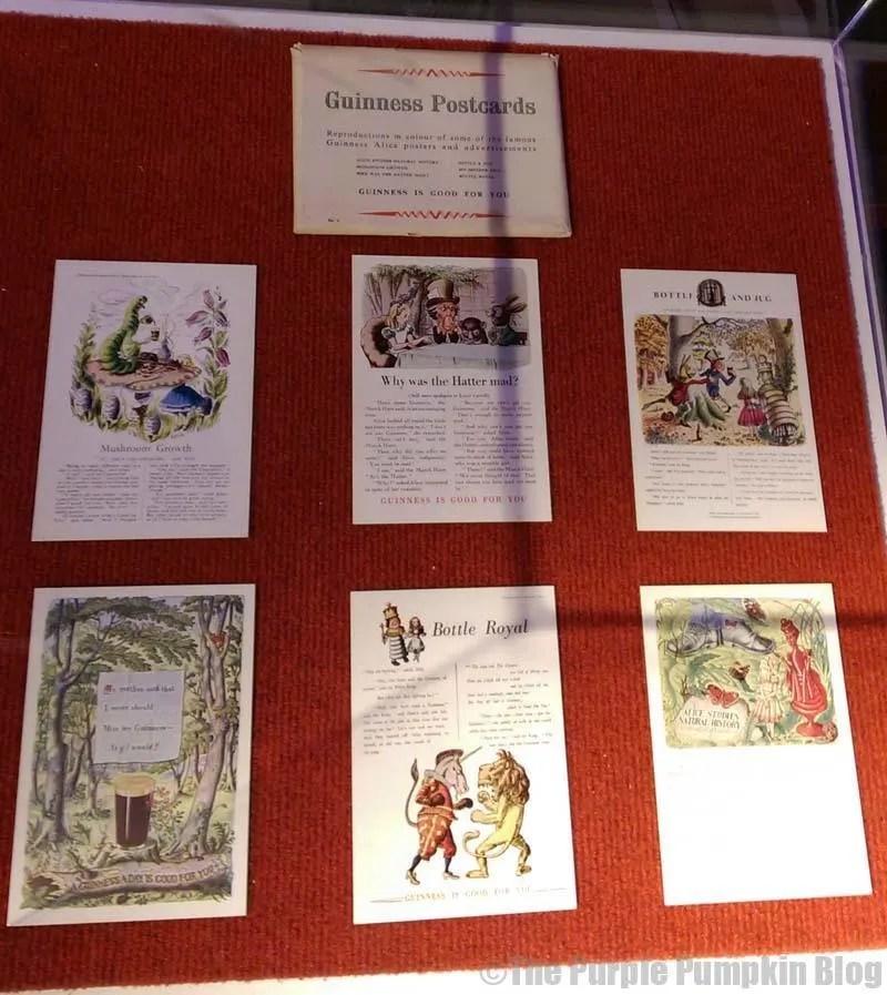 Guinness Alice in Wonderland Postcards
