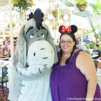 Me with Mickey Ears meeting Eeyore at Magic Kingdom