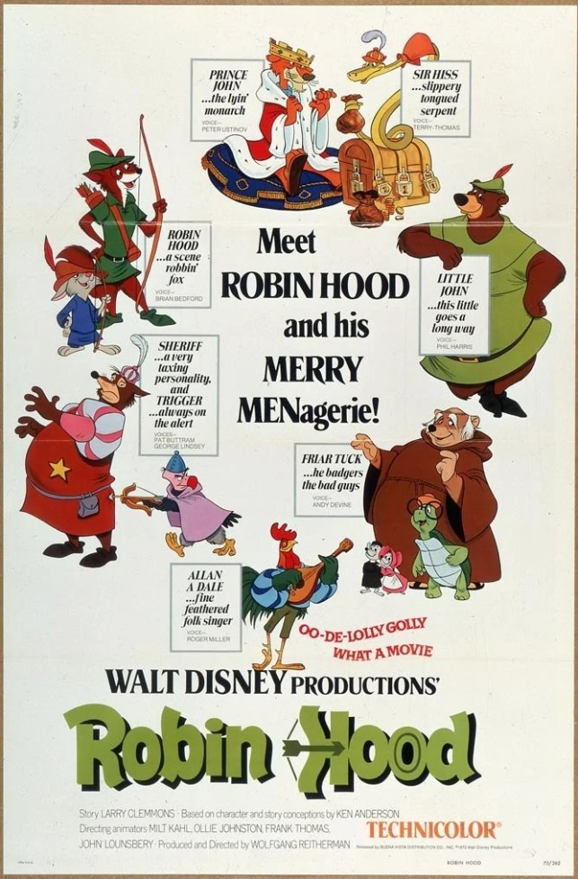 Robin Hood - Disney Movie Poster