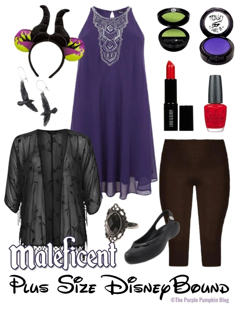 Maleficent - Plus-Size DisneyBound - for when you don't want to dress up in a costume, but still want to have that Disney magic for your outfit! This would be perfect for Mickey's Not So Scary Halloween Party!