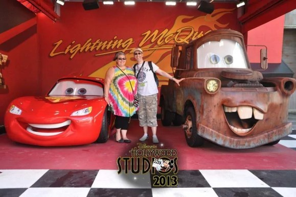 Meeting Lighting McQueen and Mater at Hollywood Studios
