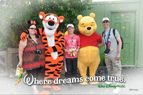 Meeting Tigger and Pooh at Magic Kingdom