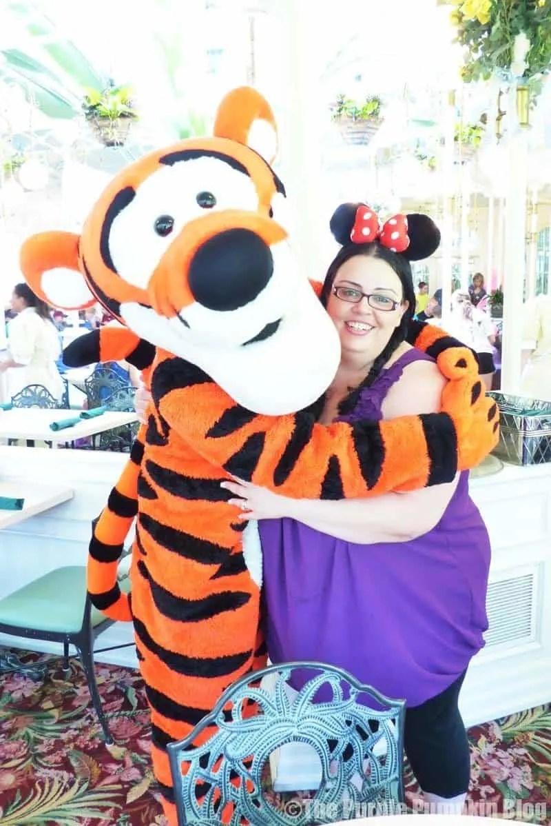Meeting Tigger at The Crystal Palace, Magic Kingdom