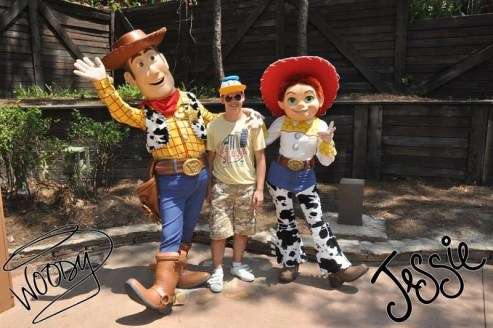 Meeting Woody and Jesse at Magic Kingdom