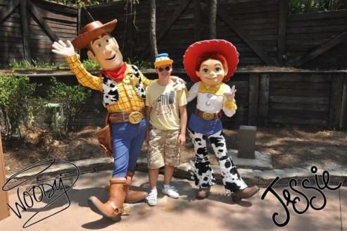 Meeting Woody and Jesse at Magic Kingdom