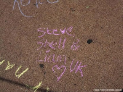 Magic Kingdom Chalk Drawing 2011