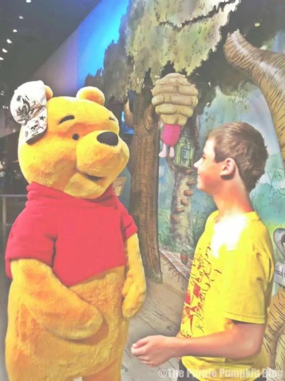Meeting Pooh at Hollywood Studios 2011