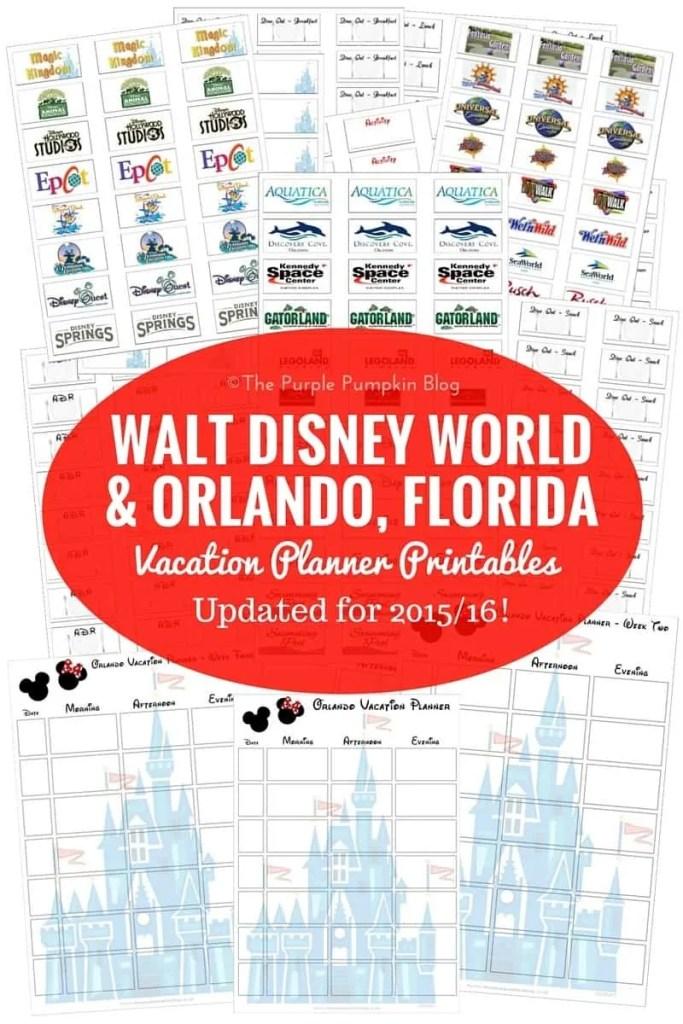 foto de Walt Disney World Vacation Planning Printables