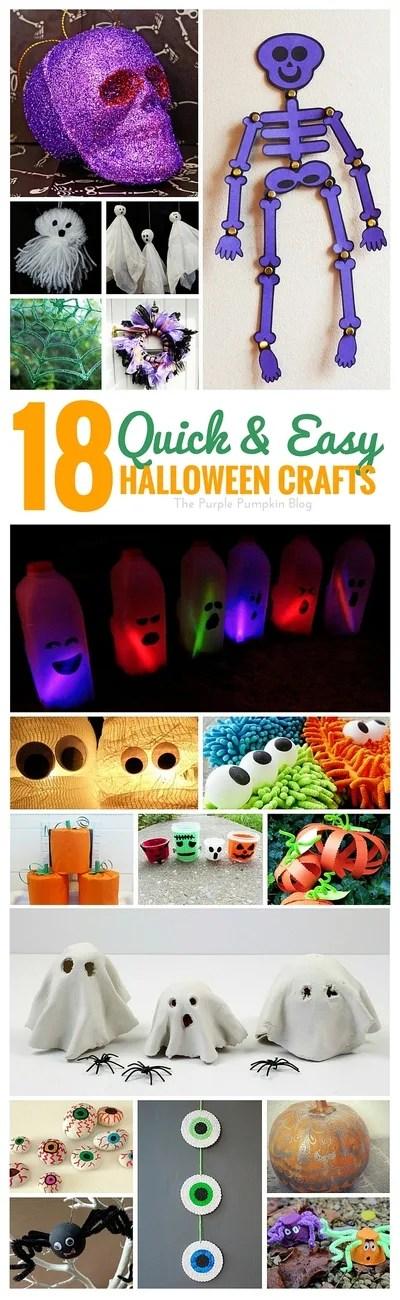 18 Quick + Easy Halloween Crafts