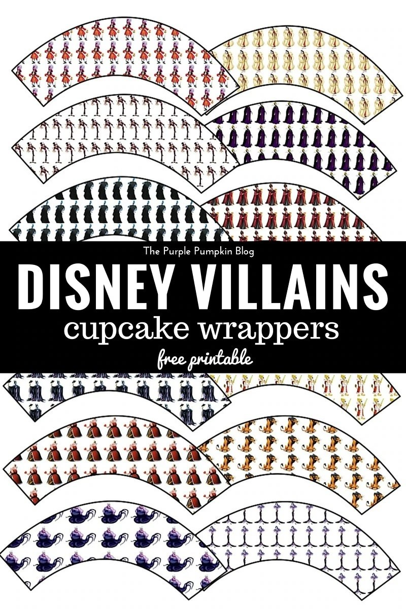 Disney Villains Cupcake Wrappers - Free Printables