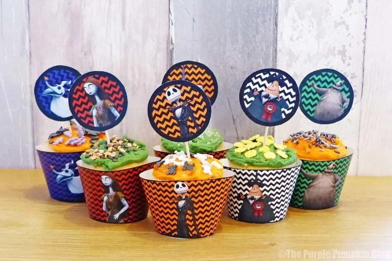 Halloween Cupcake Toppers - The Nightmare Before Christmas - Free Printables