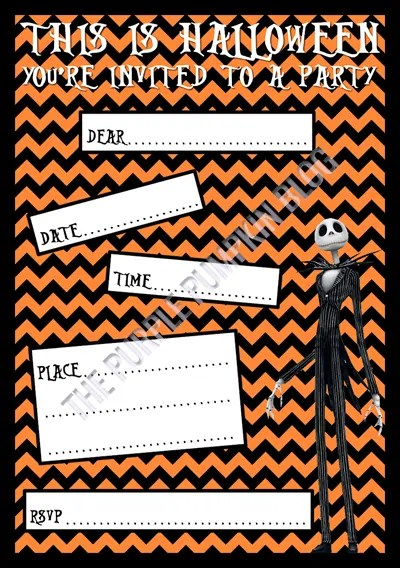 graphic relating to Halloween Invites Printable named Halloween Social gathering Invites - The Nightmare Prior to Xmas