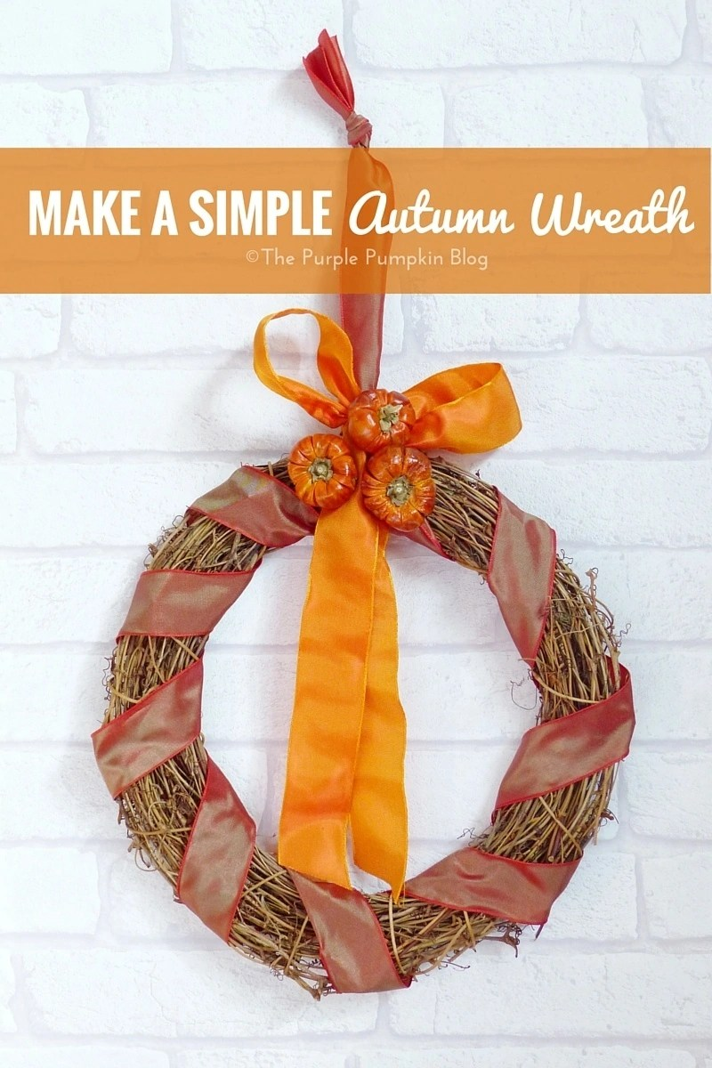 Make a Simple Autumn Wreath - perfect for decorating the home this fall - takes less than 10 minutes to put together!