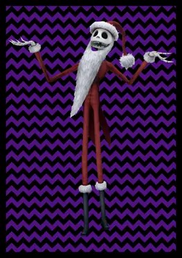 Nightmare Before Christmas - Jack Skellington Santa - Banner