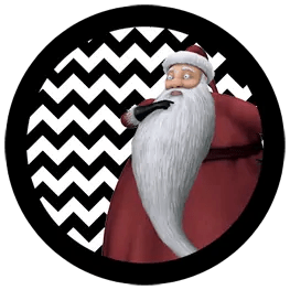 Nightmare Before Christmas - Sandy Claws - Halloween Toppers