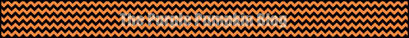 Orange Chevron Paper Chains