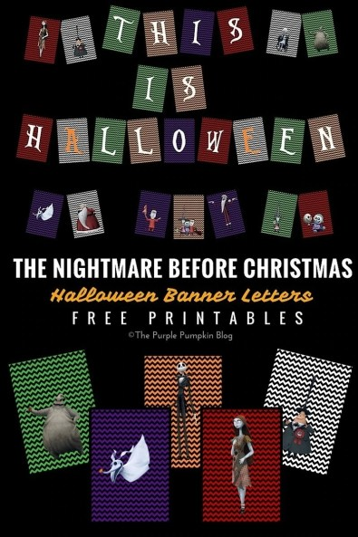 The Nightmare Before Christmas - Halloween Banner Letters - Free Printables