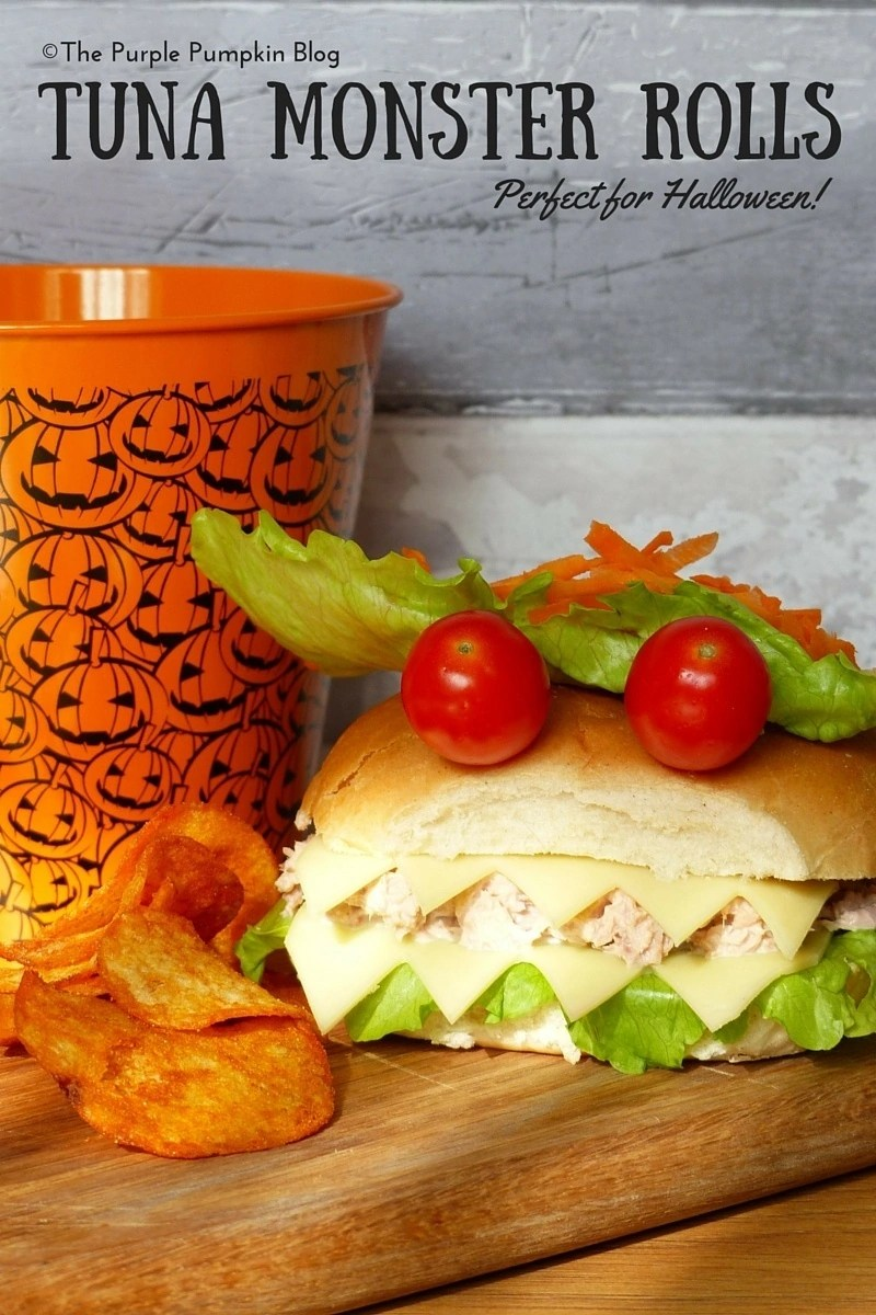 Tuna Monster Rolls - perfect for Halloween!