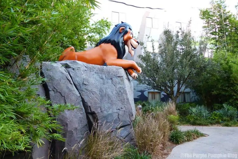Disney Art of Animation - The Lion King Courtyard - Scar Statue